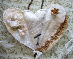 Cloth folded heart