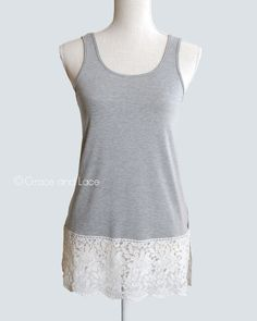 (**re-listed**) Lace Tank Extender - Grace and Lace