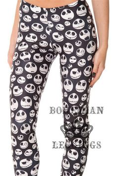 Fitness Skinny Jack Skull Leggings