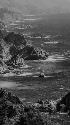 Sea Ocean Rock Nature Mountain Summer Dark Bw #iPhone #6 #wallpaper