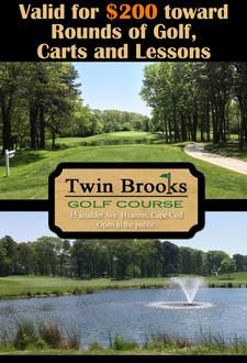 Twin Brooks Golf Course in Hyannis is offering a $200 Gift Certificate for only $125 38% Savings