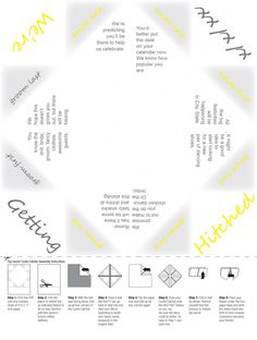 Save The Date Cootie Catcher Paper Fortune Teller Wedding