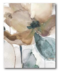 Watercolor Flower Bloom I Gallery-Wrapped Canvas
