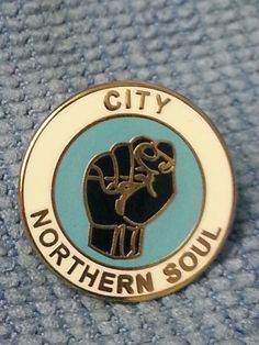Manchester City Pin Badges Northern Soul Football Gifts