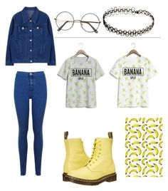 """""""Banana"""" by molu-1 on Polyvore featuring Miss Selfridge, Dr. Martens, women's clothing, women's fashion, women, female, woman, misses and juniors"""