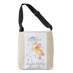 """English Weather"" Kids Body Bag Beige - accessories accessory gift idea stylish unique custom"