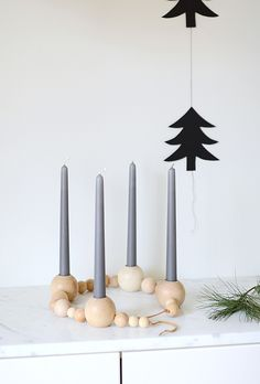 DIY Beaded Candle Holder (could be a advent wreath or simply home decor)