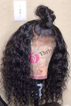 Virgin Human Hair Full Lace Wigs With Soft Baby Hairs Pre-Plucked Water Curly Virgin Human Hair Full Lace Wigs With Soft Baby Hairs Virgin human inches avaliable;Pre-Plucked at the forehead; Weave Hairstyles, Pretty Hairstyles, Hairstyles 2018, Hairdos, Wig Styles, Curly Hair Styles, College Hairstyles, Affordable Wigs, Baby Hairs