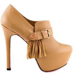 Taylor Says Anisa - Tan Leather