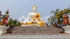 Buddhist Temple Shrine Buddha Statues Steps Religious Monument Worship Thailand - Stock Footage | by RyanJonesFilms