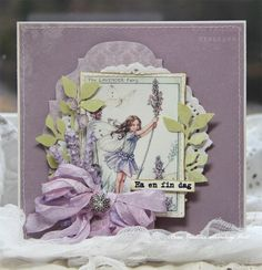 Vintage Cafe Card Challenge: Парад цветов. Лаванда. Сирень.
