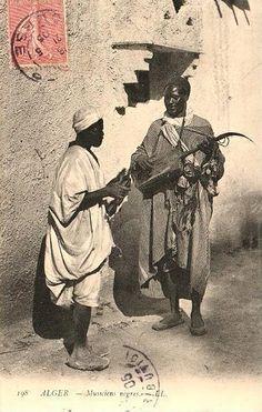 Algerian Gnawa troubadours.