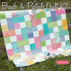 Braids & Pigtails Quilt KitFeaturing Hi-De-Ho by Me and My Sister Designs - Jolly Bar Kits - Quilt Kits | Fat Quarter Shop