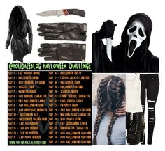 """""""31 day Halloween challenge"""" by moon-and-back-babe123 ❤ liked on Polyvore featuring VILA, LE3NO, Home Decorators Collection and Gucci"""