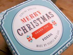 The Lettered Set: Cool packaging from Fossil