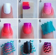 Cute & easy nail tutorial! I think I may just try it! This would be cute for summer! :)