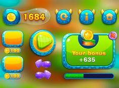 Children's apps UI on Behance