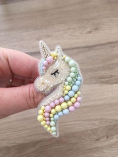 Hand Work Embroidery, Bead Embroidery Jewelry, Fabric Jewelry, Hand Embroidery Designs, Beaded Embroidery, Beaded Jewelry Designs, Handmade Beaded Jewelry, Brooches Handmade, Unicorn Jewelry