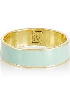 INEZ AND VINOODH Enameled 18-karat gold ring