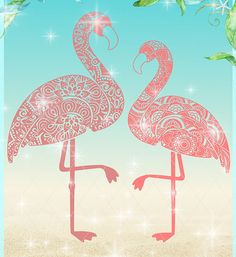 Flamingo Mandala Zentangle SVG Dxf Eps Pdf PNG Files for Cricut, Silhouette, Laser, Sublimation - Commercial Use Flamingo Art, Pink Flamingos, Mandala Art Lesson, Silhouette Tattoos, Cartoon Background, Art Party, Cricut Creations, Vinyl Crafts, Little Birds