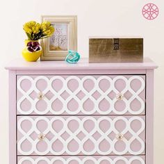 Transform your Ikea Tarva Dresser with My O'verlays fretwork panels. Our overlays are the perfect Ikea furniture hack to transform your interior decor! Ikea Furniture Makeover, Ikea Furniture Hacks, Furniture Projects, Furniture Decor, Diy Projects, Ikea Hacks, Ikea Tarva Dresser, Dressers, Cute Bedroom Ideas