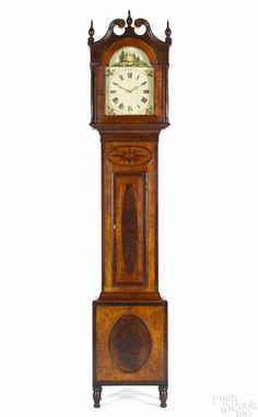 Pittsburgh Pennsylvania Area Tall Case Clock Ca 1825 With A Broken