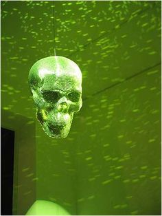 Morbid Disco Decor - Badass Skull-Shaped Glitter Ball