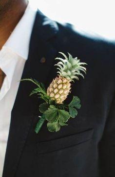 58  Ideas For Wedding Bouquets Tropical Grooms. Pineapple boutonnieres. Wedding Beauty, Wedding Men, Wedding Suits, Trendy Wedding, Perfect Wedding, Wedding Events, Wedding Dress, Bridal Beauty, Dream Wedding
