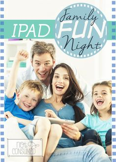 Most of the time, I'd rather see the ipads put away for family fun night, but this one was an absolute blast! #ipad #familyfun