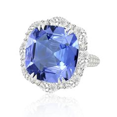 Sutra Jewels ~ Sapphire and Diamond Ring