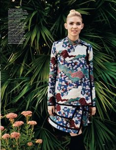 beatpie:  Grimes wears a Proenza Schouler brocade dress from Fall 2012 in the December issue of Vogue UK.
