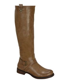 Look at this #zulilyfind! Nude Zoey Riding Boot by Blossom #zulilyfinds