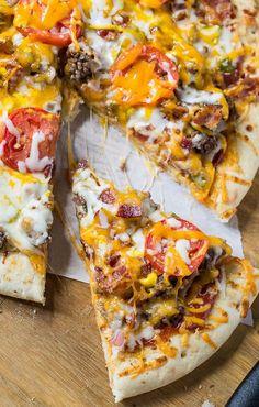 Cheeseburger Pizza (use gluten free pizza crust)
