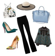 A fashion look from February 2016 featuring loose fit shirt, party crop tops and button-fly jeans. Browse and shop related looks. Party Crop Tops, Button Fly Jeans, Anna Sui, Eugenia Kim, Stella Mccartney, Givenchy, Spring Fashion, Christian Louboutin, Women's Clothing