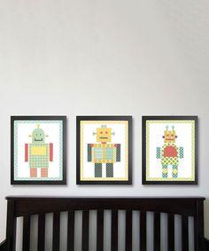 Love this Robots Print Set by Just Bunch Designs on #zulily! #zulilyfinds