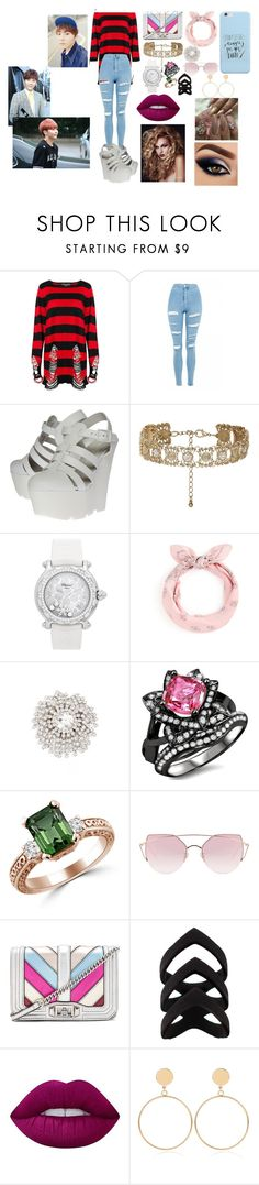 """Boo Seungkwan Seventeen"" by btsloveforlife on Polyvore featuring Killstar, Topshop, Kurt Geiger, New Look, Chopard, Cristabelle, LMNT, Rebecca Minkoff, Lime Crime and WithChic"