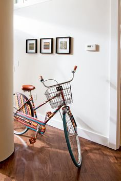 """A Missoni Bicycle bought at """"Target""""       previous 6 of 19next        Missoni Bike  A Missoni bicycle, scored by Bethenny at an early-morning Target sale, is a conversation piece in the living room."""