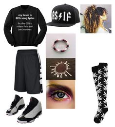 """my weekend"" by gigi-redfox ❤ liked on Polyvore featuring Reason, NIKE and HUF"