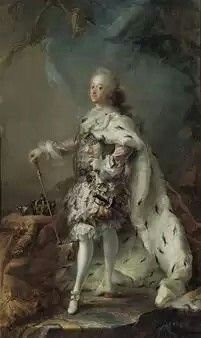 Carl Gustaf Pilo: Frederick IV in his anointing robes