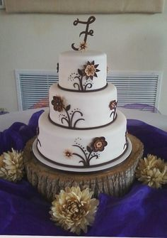Rustic wedding cake By CakesbyKat on CakeCentral.com