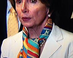 Fashion statement: Pelosi sports costly Hermes scarf for shutdownВdebate - http://www.ebax.biz/fashion-statement-pelosi-sports-costly-hermes-scarf-for-shutdowndebate/ | See more about Hermes Scarves, Fashion Statements and Hermes.