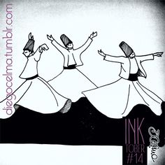 InkTober #14: Whirling dervishes #inktober #inktoberchallenge #whirlingdervishes #dervish #illustration #drawing #ink #inkdrawing #dance #religious #religion #challenge https://www.facebook.com/diegocelmailustrador