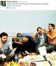 Rob Benedict, Matt Cohen, Richard Speight Jr., Misha Collins, and Sebastian Roche