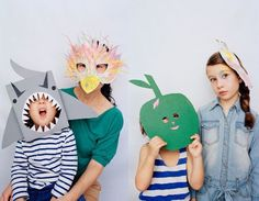 Kids Halloween Handmade Cardboard Masks For Unique Costume Ideas and Projects + Tutorials