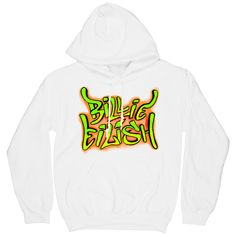 6104feeb Printed on a white, Gildan brand, 50/50 cotton/polyester hooded sweatshirt