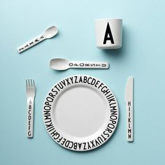 Sometimes simple is best. #DesignLetters ABC melamine cutlery, plate and cup - beautiful 👍💕 Check out the rest of the range online! . . . #ThisModernLife #Dining #ABC #PersonalisedGift #Kids #KidsInsta #Kidsinspo #KidsFood #KidsFoodIdeas #foodgram #DinnerTime #DinnerSet #Dinnerware