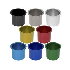Our Colored Aluminum Drop In Drink Cup Holders hold your drinks secure at your poker table without spilling. This drop in style is designed to fit into a hole in the table. Our cup holders can be perm