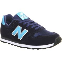 New Balance Wl373 Trainers featuring polyvore, fashion, shoes, sneakers, navy bright blue, trainers, unisex sports, new balance, navy sneakers, sports footwear, sporting shoes and new balance shoes