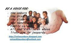 Voices for the Unborn: Voices for the Unborn Mission Statement http://voicesunborn.blogspot.com/p/voices-for-unborn-is-dedicated-to.html#.VpbffRUrLIU