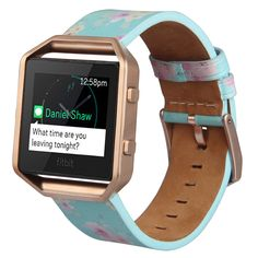 2017 Newest Style Hottest Genuine Leather Fitbit Blaze Band High quality for Fitbit Blaze Large Small Wristwatch Band